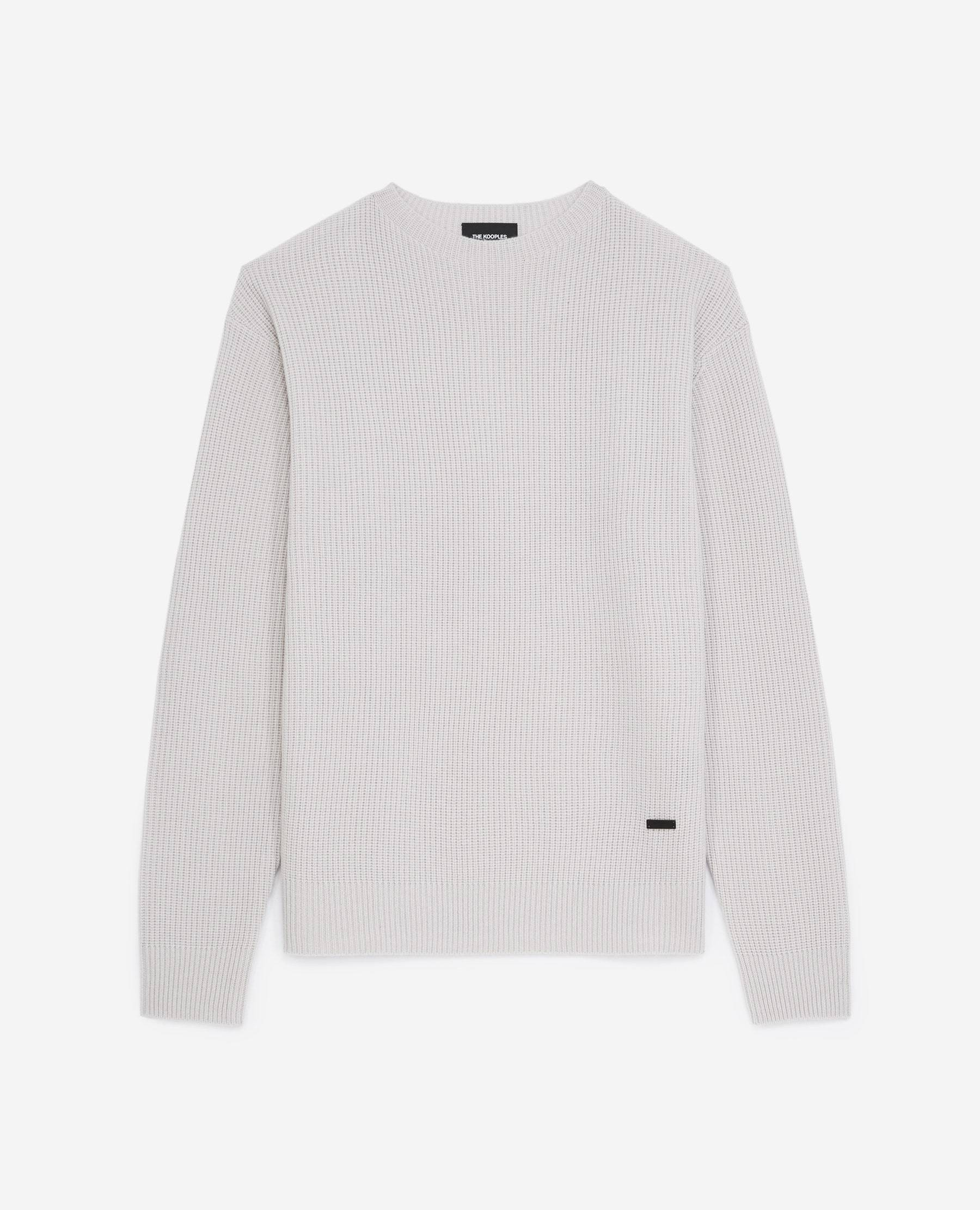 The Kooples - Pull maille écru à col montant - HOMME M