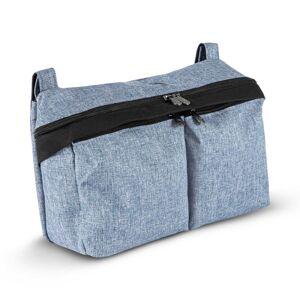 Bugaboo sac organiseur bleu chiné - Publicité