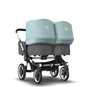 Bugaboo Poussette naissance et 2e âge Bugaboo Donkey 3 Twin blue - Publicité