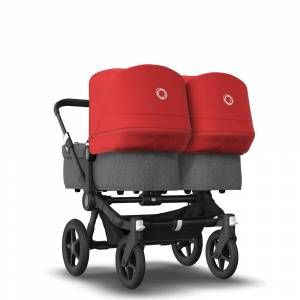 Bugaboo Poussette naissance et 2e âge Bugaboo Donkey 3 Twin red - Publicité