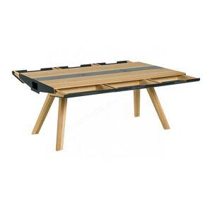 Vox Table, diner en chene,, tiroirs,, casiers, plateau en metal, Gamme Benidorm - Publicité