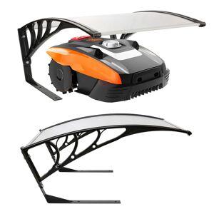 Arebos Garage Pour Robot Tondeuse Protection Toit Transparent - Publicité