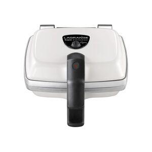 Lagrange Super 2 Antiadhésif - Gaufrier/machine à gaufrettes/machine à croque-monsieur - 1000 Watt - blanc - Publicité