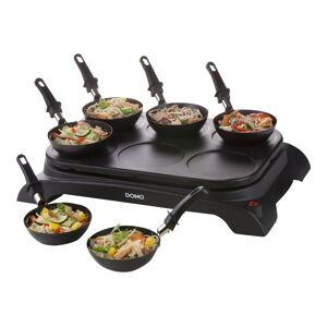 DOMO DO8710W - Crêpière/wok électrique - 1000 Watt - Publicité