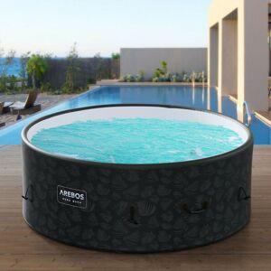 AREBOS Piscine Spa Pool Gonflable Drop-Stitch Ronde - Publicité
