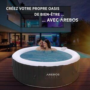 AREBOS Piscine Spa Pool Gonflable Chauffage Exterieur Display LED - Publicité