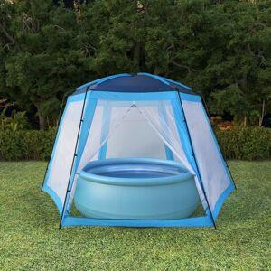 vidaXL Tente de piscine Tissu 500x433x250 cm Bleu - Publicité