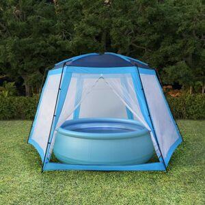 vidaXL Tente de piscine Tissu 590x520x250 cm Bleu - Publicité