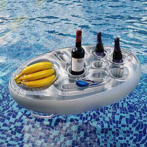 Porte gobelet de seau de fête d'été, flotteur de piscine gonflable, refroidisseur de bière, plateau de Table, Bar, accessoires d'anneau de natation de plage - Publicité