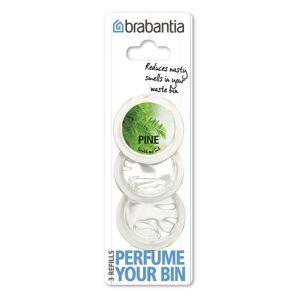 Brabantia Perfume Your Bin, recharges - Transparent, pine scent (3 capsules) - Publicité