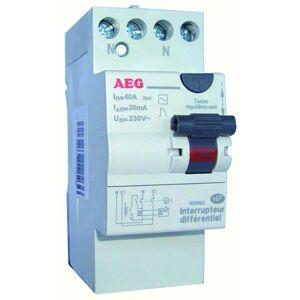 AEG Interrupteur différentiel AEG 40A 30mA type AC avec bornes étagées - Publicité