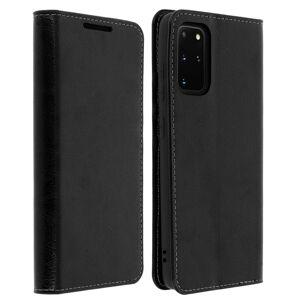 Étui Galaxy S20 Plus Folio Cuir Véritable Porte cartes Support Vidéo - noir - Publicité