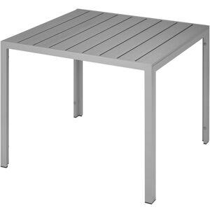 Table De Jardin Carrée Maren 90 X 90 Cm - Argent - Publicité