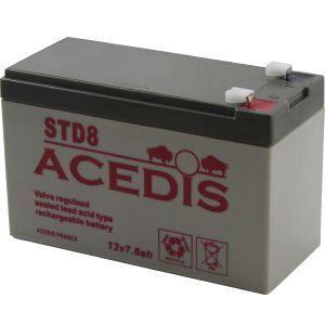 Batterie 12V 7.7AH - ACEDIS STD8 - Publicité