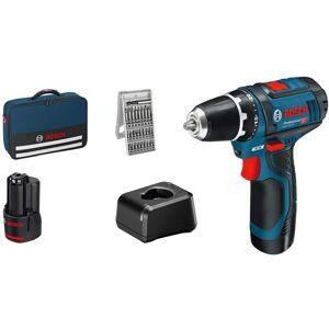 Bosch Perceuse visseuse sans fil GSR12V-15 2x2Ah + 25 accessoires - 060186810H BOSCH - Publicité