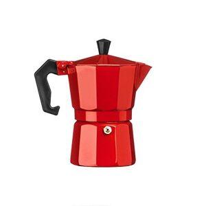 Premier Housewares 0602457 Cafetière Italienne 3 Tasses Aluminium Rouge - Publicité