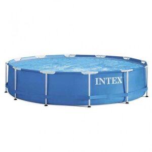 Intex Piscine design Metal Frame 366 x 76 cm bleu - Publicité