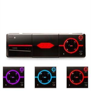 auna MD-640 - Autoradio Bluetooth design moderne avec ports USB/SD et contrôle par appli smartphone (support iphone inclus, kit mains libres, RDS) - noir - Publicité