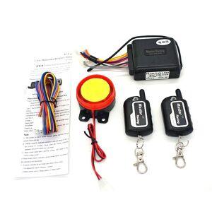Système D'alarme Sirène De Moto Scooter Télécommande Anti-Vol Capteur Vibration - Publicité
