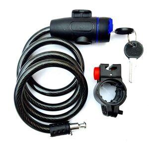 Durable Utilisation Antivol Vélo Vélo Verrouillage En Acier Inoxydable Cable Lock Sécurité-Noir Et Bleu - Publicité