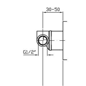 ZUCCHETTI RUBINETTERIA PAN ROBINETS DOUCHE ENCASTR�S code produit: R99686