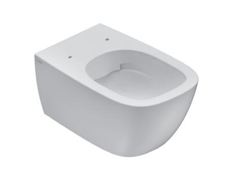CAESAROO Cuvette wc suspendu sans bride 36x55 cm en céramique Globo Genesis   Avec abattant wc soft-close