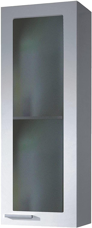 CAESAROO Placards mural de bain 20x30xh85 cm avec une porte Blanc brillant   Blanc brillant