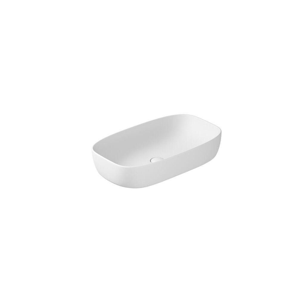 CAESAROO Lavabo à poser 64x38 cm en céramique blanc mat Galassia Dream   Blanc
