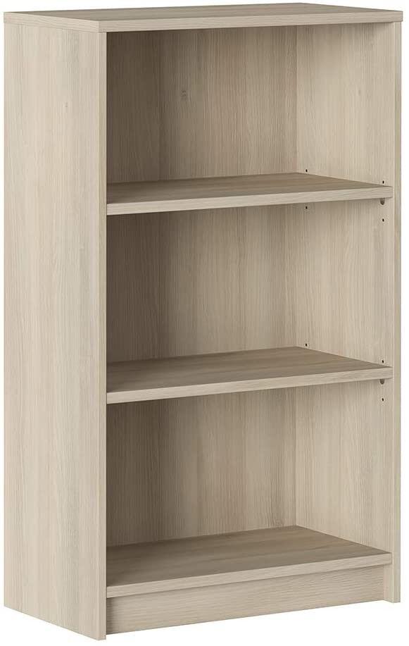 CAESAROO Bibliothèque 100 cm Chêne avec 3 étagères série Stoccolma    Chêne clair