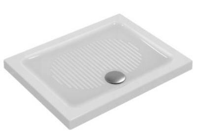 CAESAROO Receveur de douche 90X75 cm céramique Ideal Standard Connect blanc antidérapant   Blanc