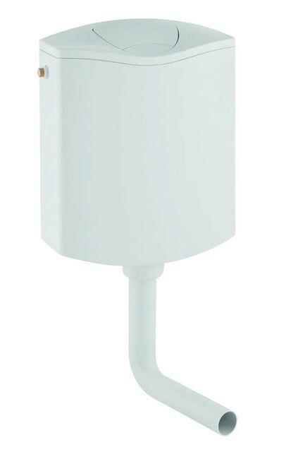 CAESAROO Chasse d'eau externe avec deux débits blancs Geberit 136.432.11.1   Blanc
