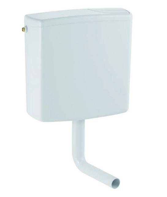 CAESAROO Chasse d'eau externe avec deux débits blancs Geberit 140.301.11.1   Blanc