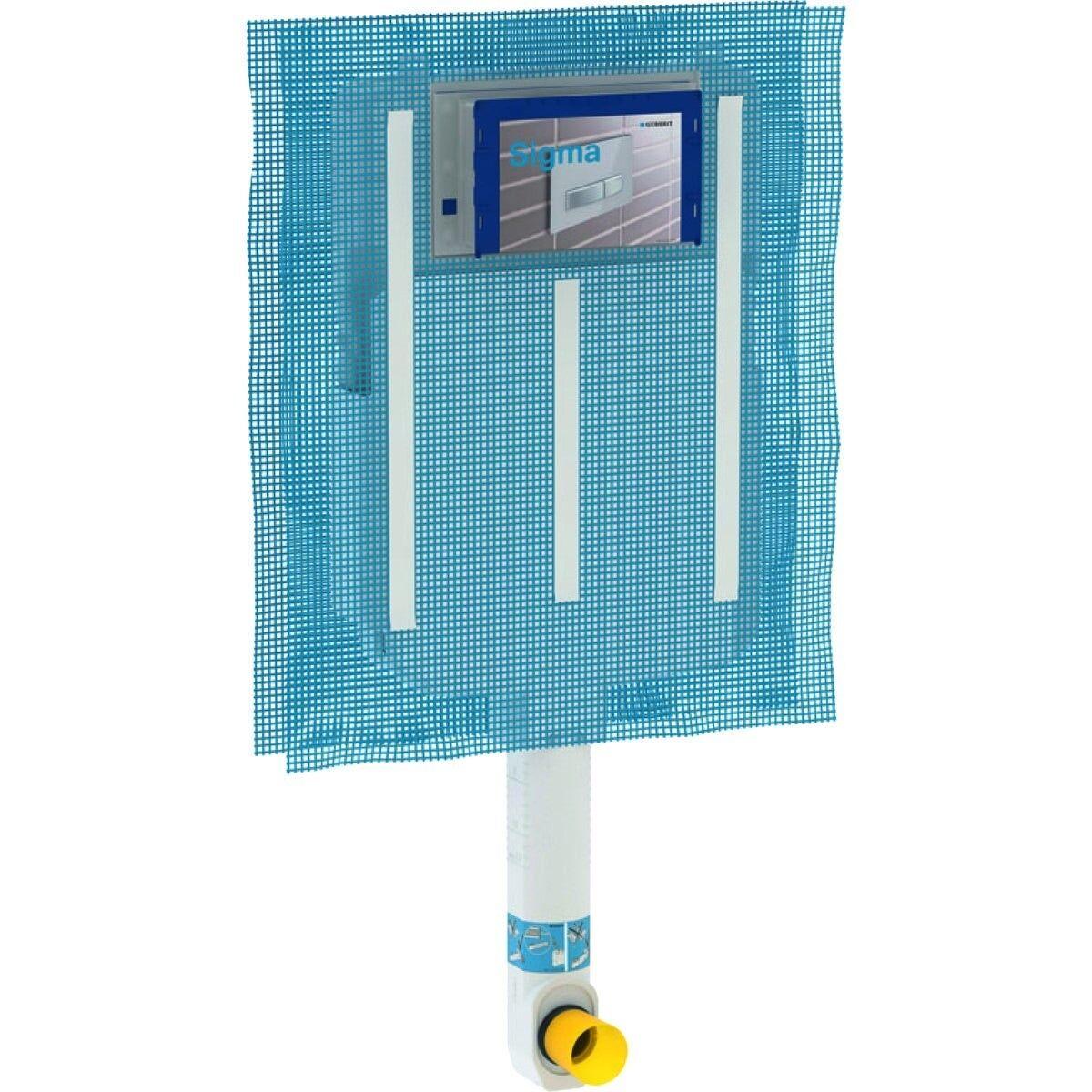 CAESAROO Réservoir de chasse d'eau 8 cm et 6,3 litres Geberit Sigma 109.790.00.1   Blanc