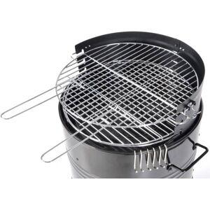 CAESAROO Barbecue charbon de bois Sunday en acier noir   noir - Publicité