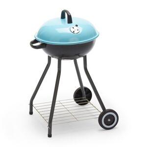 CAESAROO Barbecue charbon de bois rond avec structure en acier et roues   Acier - Publicité