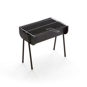 CAESAROO Barbecue à charbon de bois portable Lyon avec structure en acier   noir - Publicité