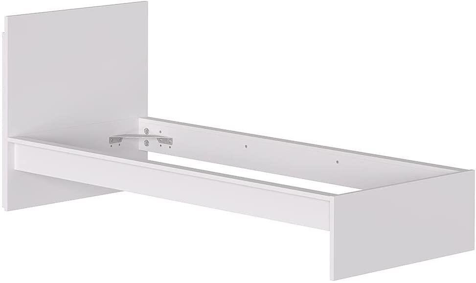 CAESAROO Structure Lit simple 214x107 cm blanc mat série Helsinki   Blanc