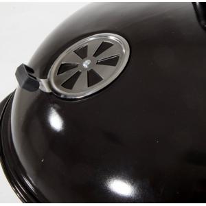 CAESAROO Barbecue à charbon de bois en acier avec chariot et couvercle   Acier - Publicité