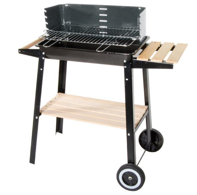 CAESAROO Barbecue à charbon de bois en acier avec chariot   Acier