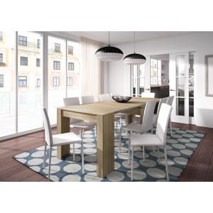 CAESAROO Table multifonctions extensible de 51 à 237 cm Roble canadian   Roble Canadian - Publicité