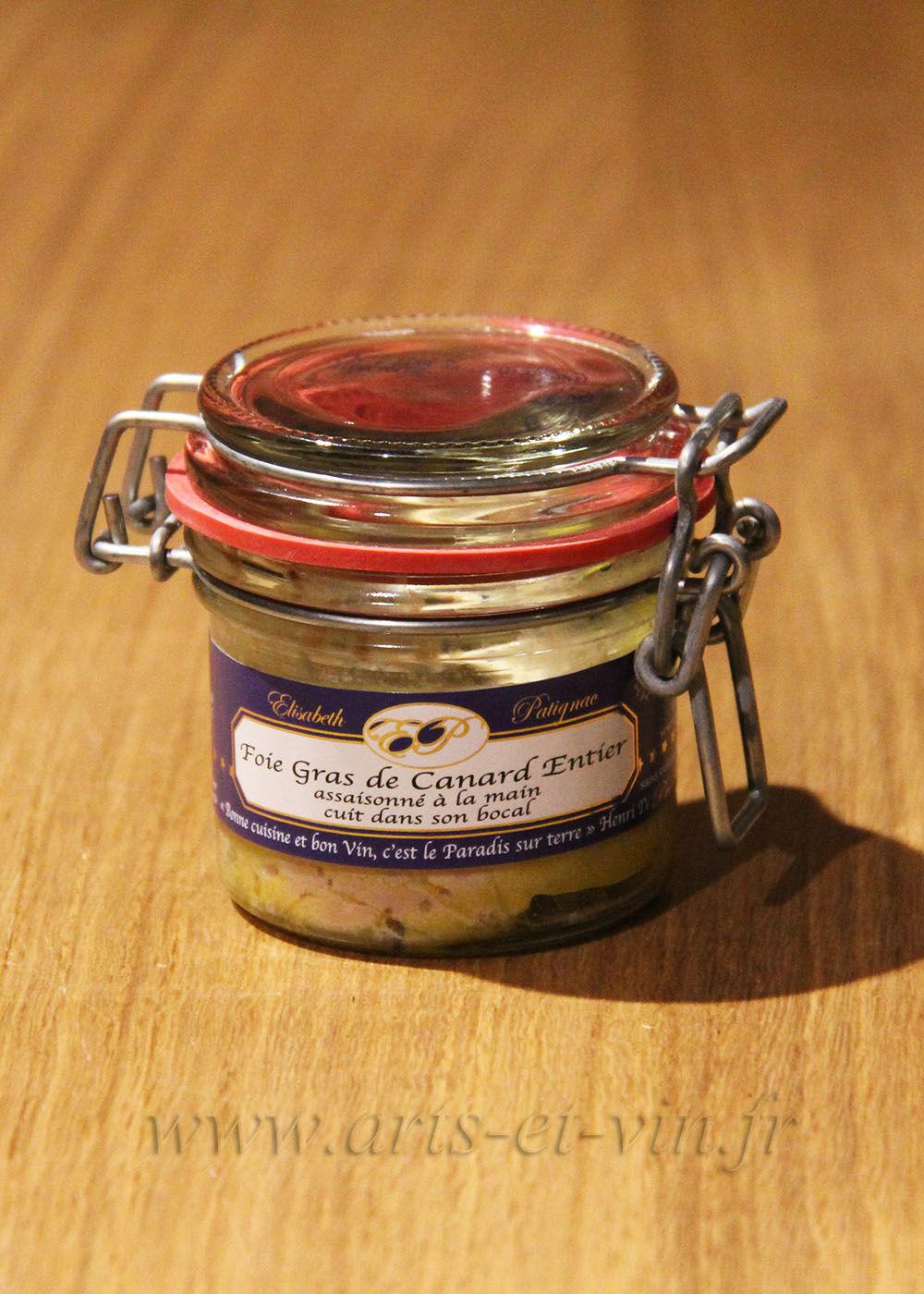 Foie Gras et Epices Foie gras de canard entier assaisonné à la main et cuit dans son bocal - 90g