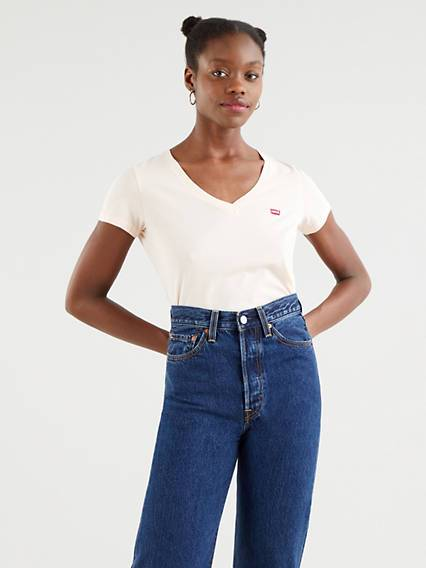 Levi's The Perfect Tee - Femme - Rouge / Scallop Shell