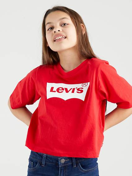 Levi's Teenager Light Bright Cropped Top - Femme - Rouge / Super Red