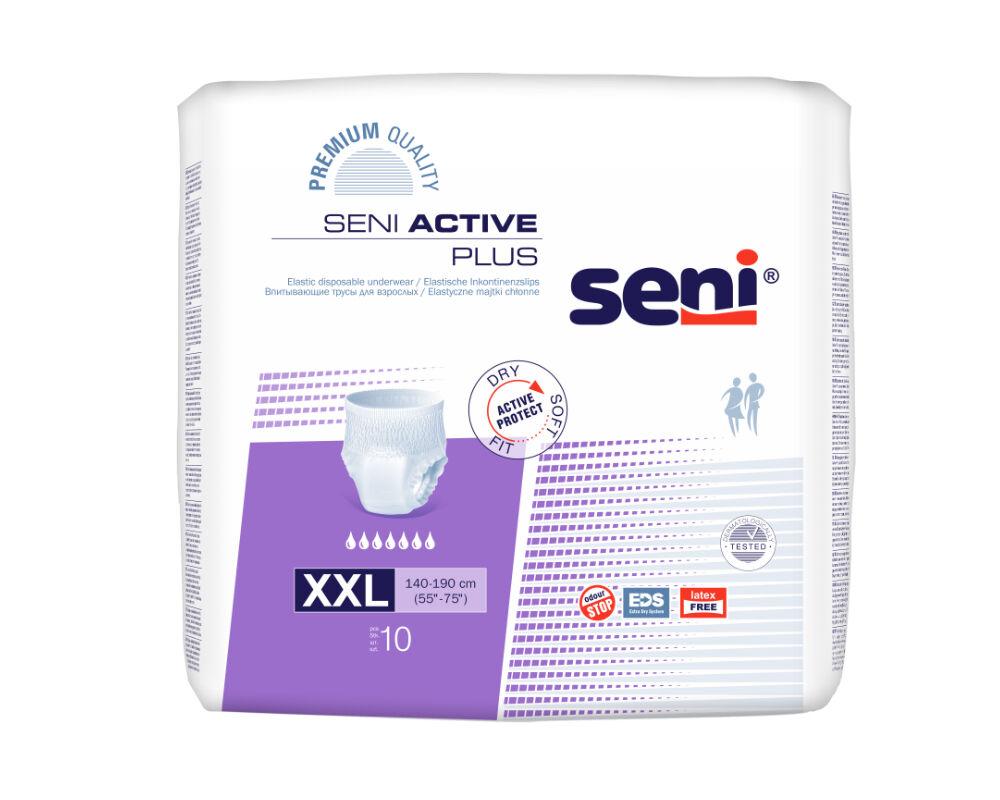Seni Active Plus XXL - Couches-culottes adulte - 10 pièces - Slips absorbants jetables