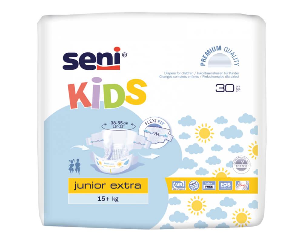 Seni Kids Junior Extra - Couches-culottes enfants - 30 pièces - Changes complets jetables