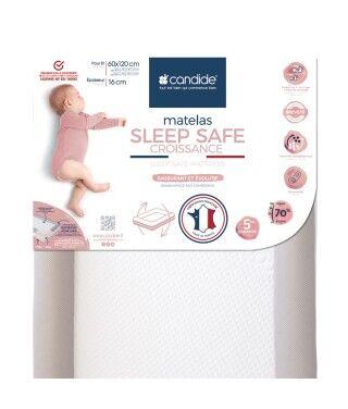 Candide Matelas bébé 60x120cm Sleep safe croissance déhoussable