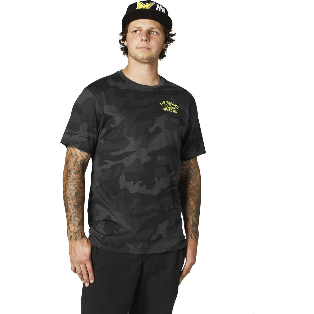 Fox T-Shirt Tech OG Camo - M - Noir