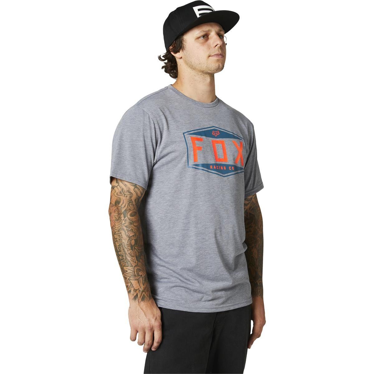 Fox T-Shirt Tech Emblem - M - Gris