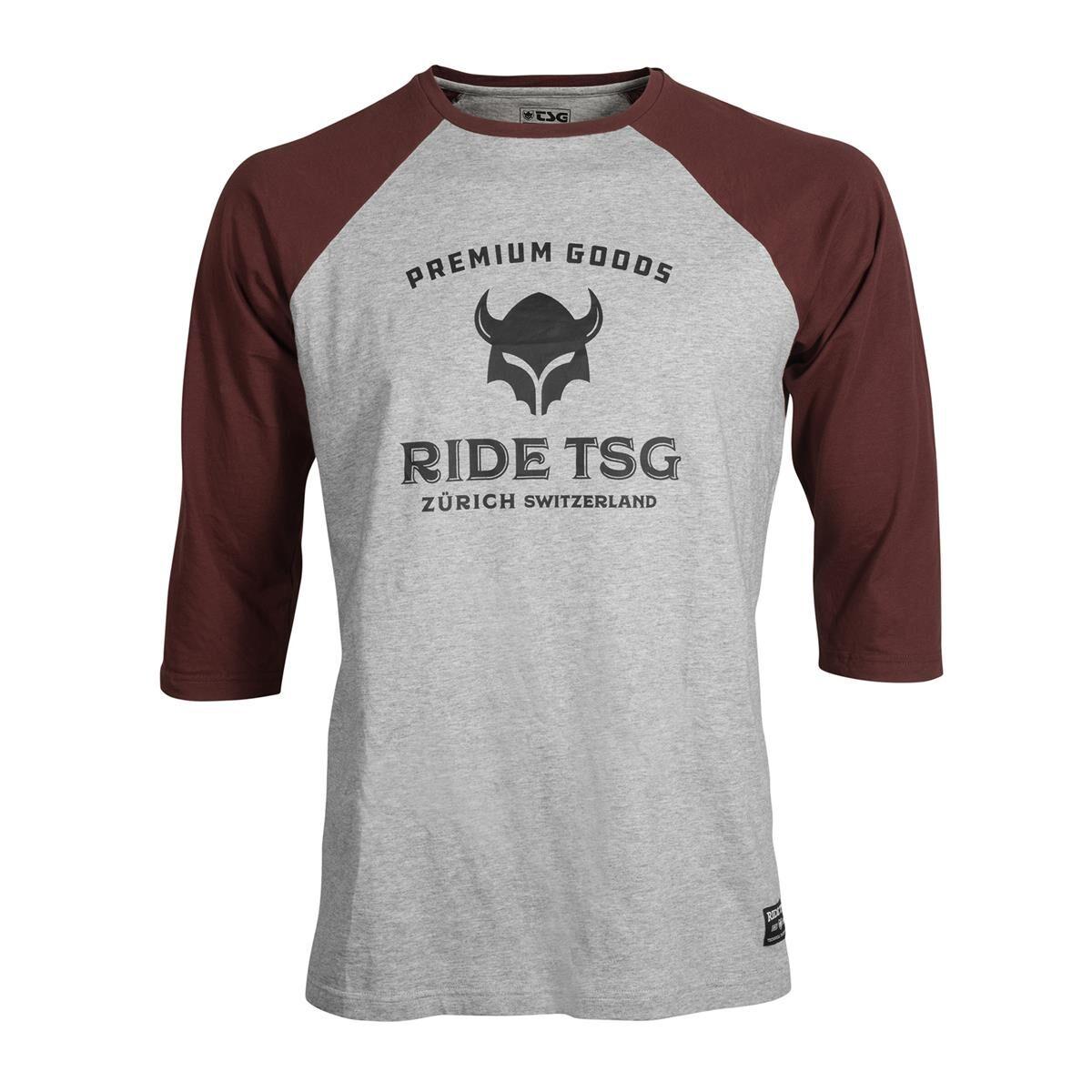 TSG T-Shirt Manches 3/4 Raglan Origins - S - Gris