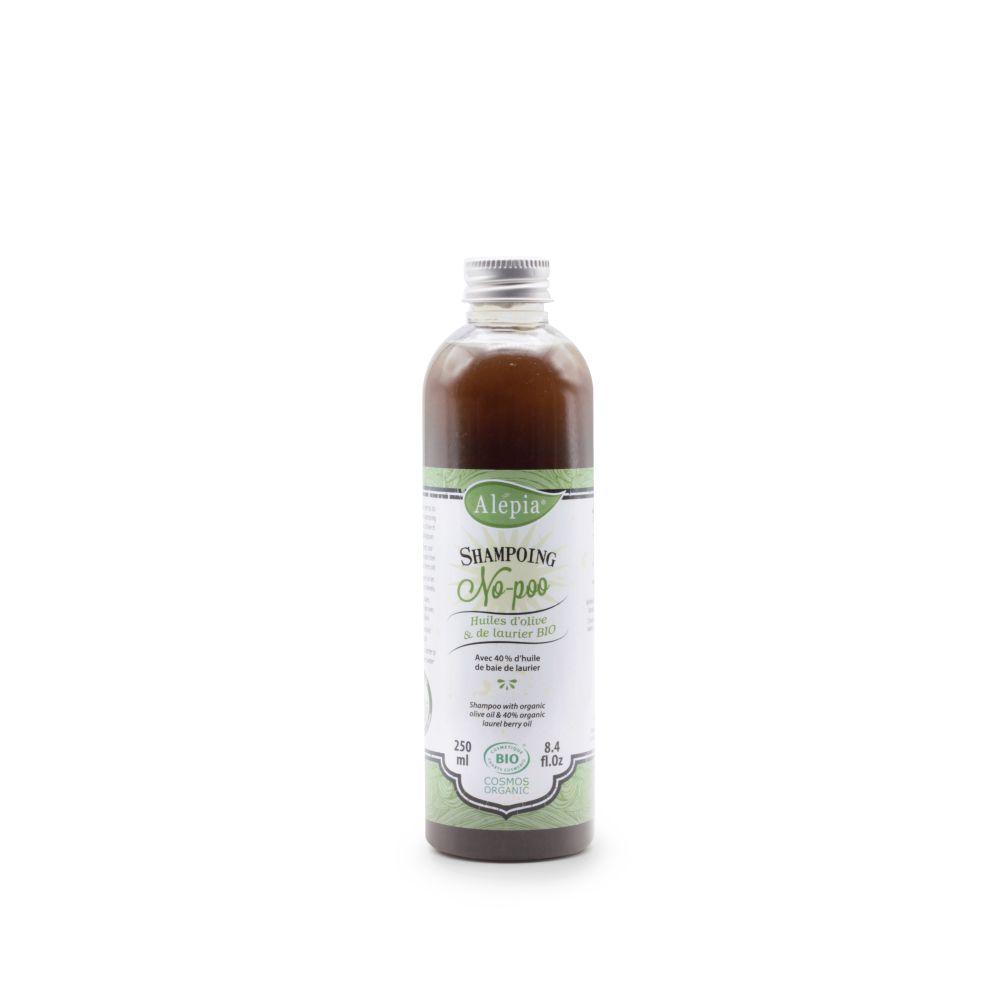 Alépia Shampoing No-poo – Flacon 250ml - 40% de laurier bio - Alépia